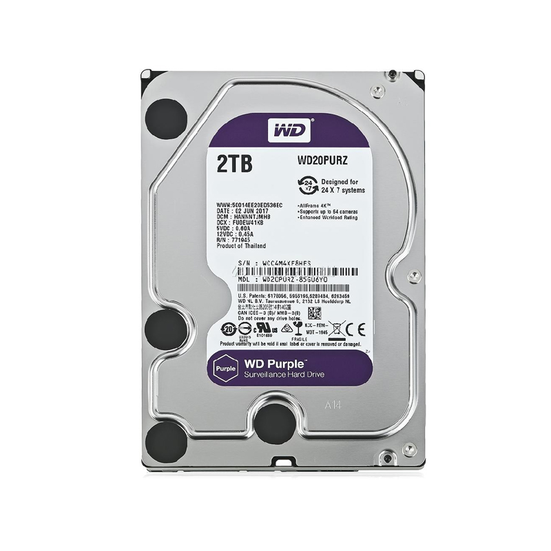 HARD DISK INTERNO WESTERN DIGITAL WD20PURZ PURPLE 3.5\