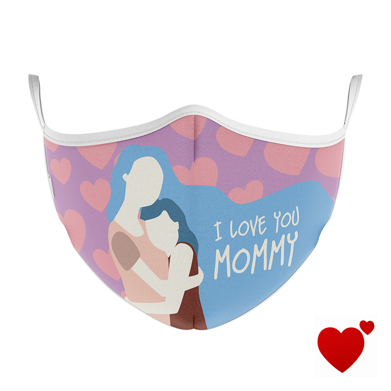 MASCHERINA ULTRA STYLE IN TNT DOPPIO STRATO - I LOVE YOU MOMMY