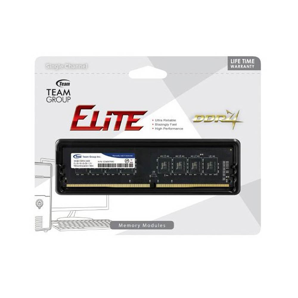 Ram ddr4 8 gb pc 2400 mhz team group cl16 ted48g2400c1601.