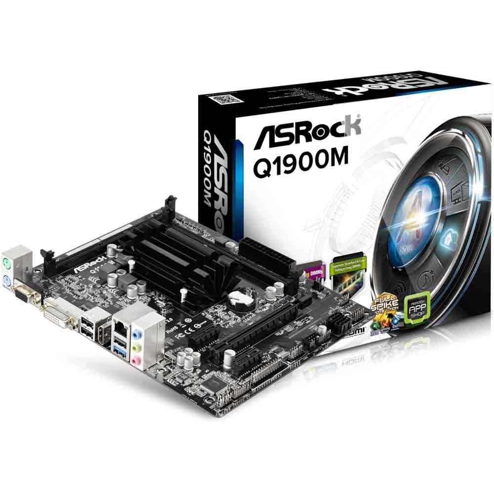 ASRock Q1900M J1900 DualDDR3L 1333mhz 2xSATA2 HDMI DVI D-Sub mATX