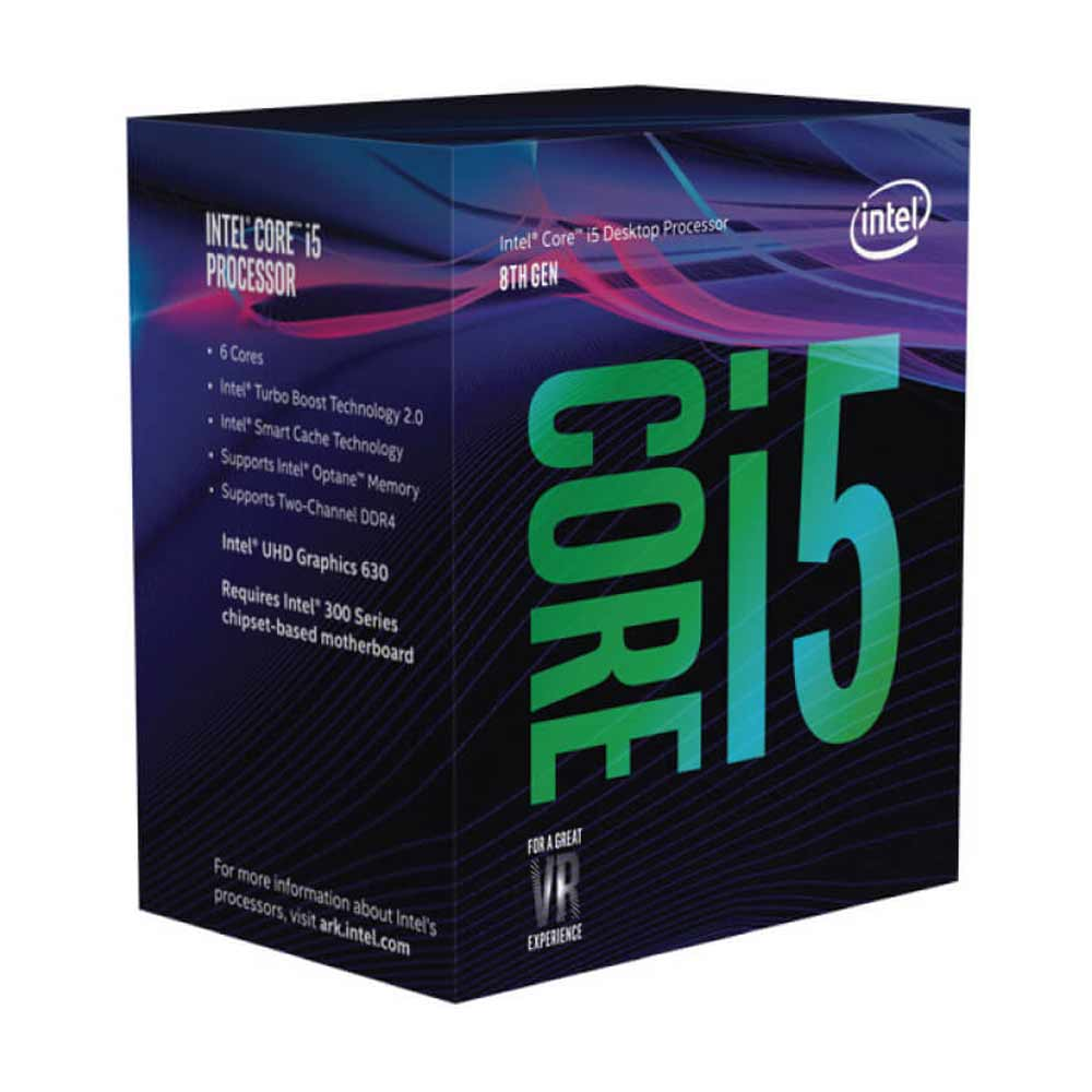 Processore core i5-8400 coffee lake fino a 4,0 ghz e con 6 cuori e 9mb di cache.