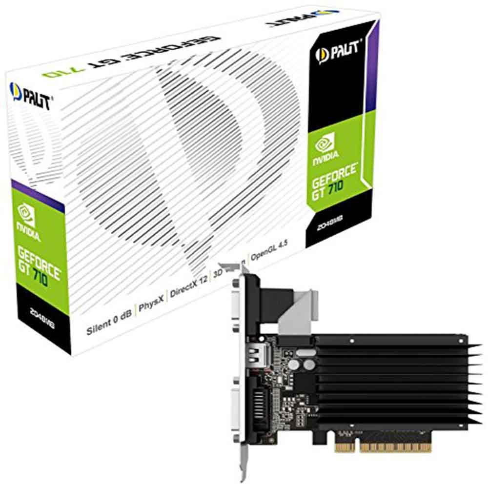 Palit nvidia gt-710 da 1gb vga, hdmi, dvi, dual screen
