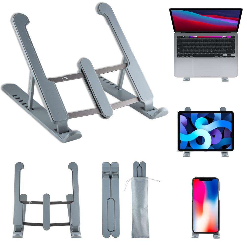 Supporto pc portatile e tablet con 6 livelli regolazione in alluminio