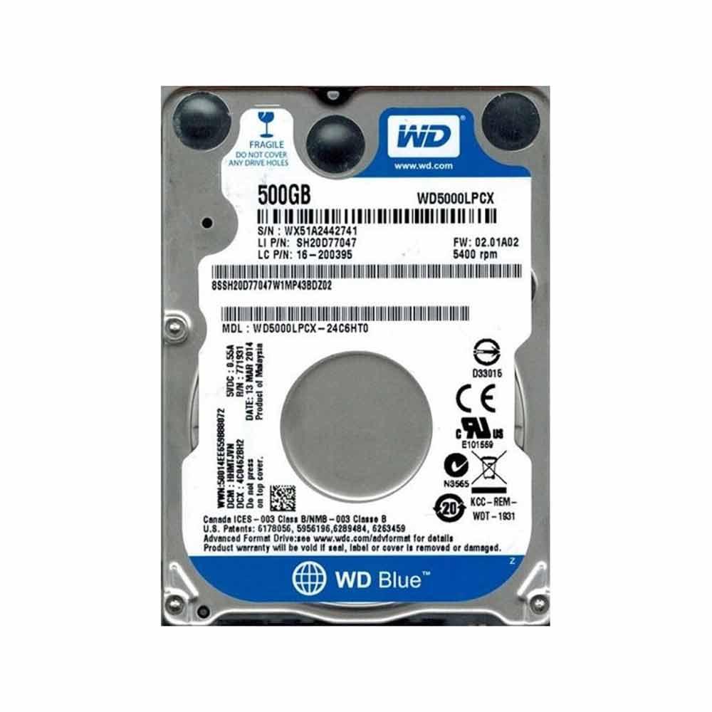 Hard disk interno western digital caviar blue 500gb 2.5.