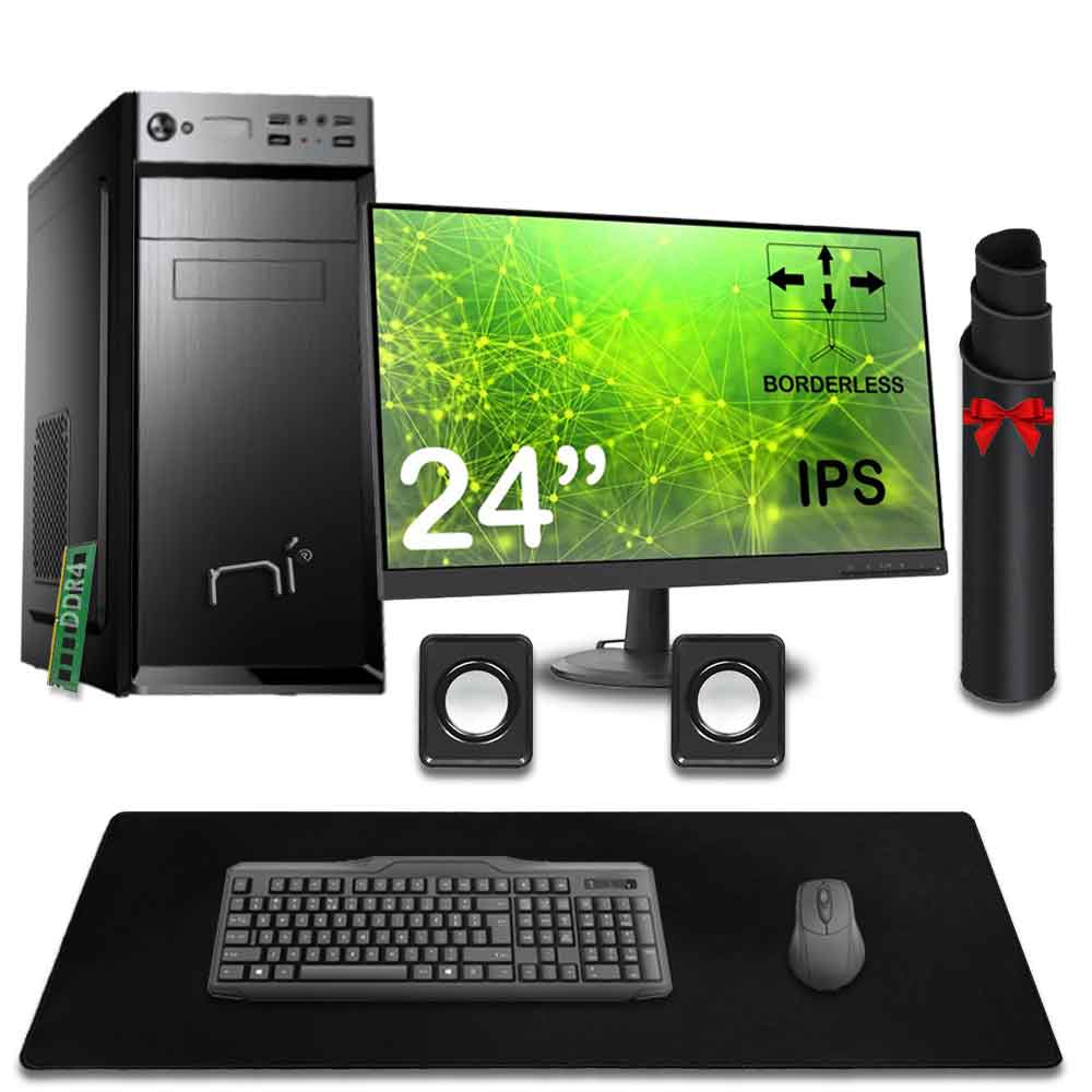 Kit pc desktop intel quad core 8gb ram hard disk 1tb windows 10 con licenza