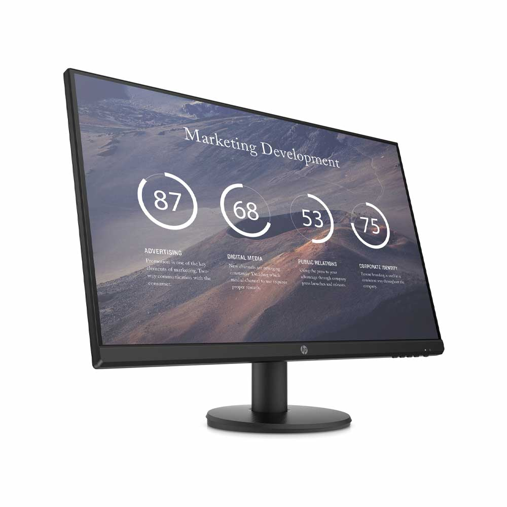 Monitor HP P27v da 27 pollici pannello LED FullHD VGA HDMI 5ms borderless foto 3