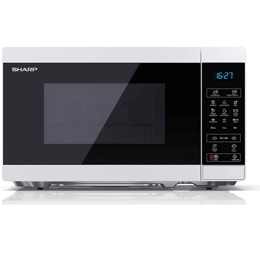 Forno a microonde digitale da 1000W con grill e defrost 11 livelli di cottura foto 2