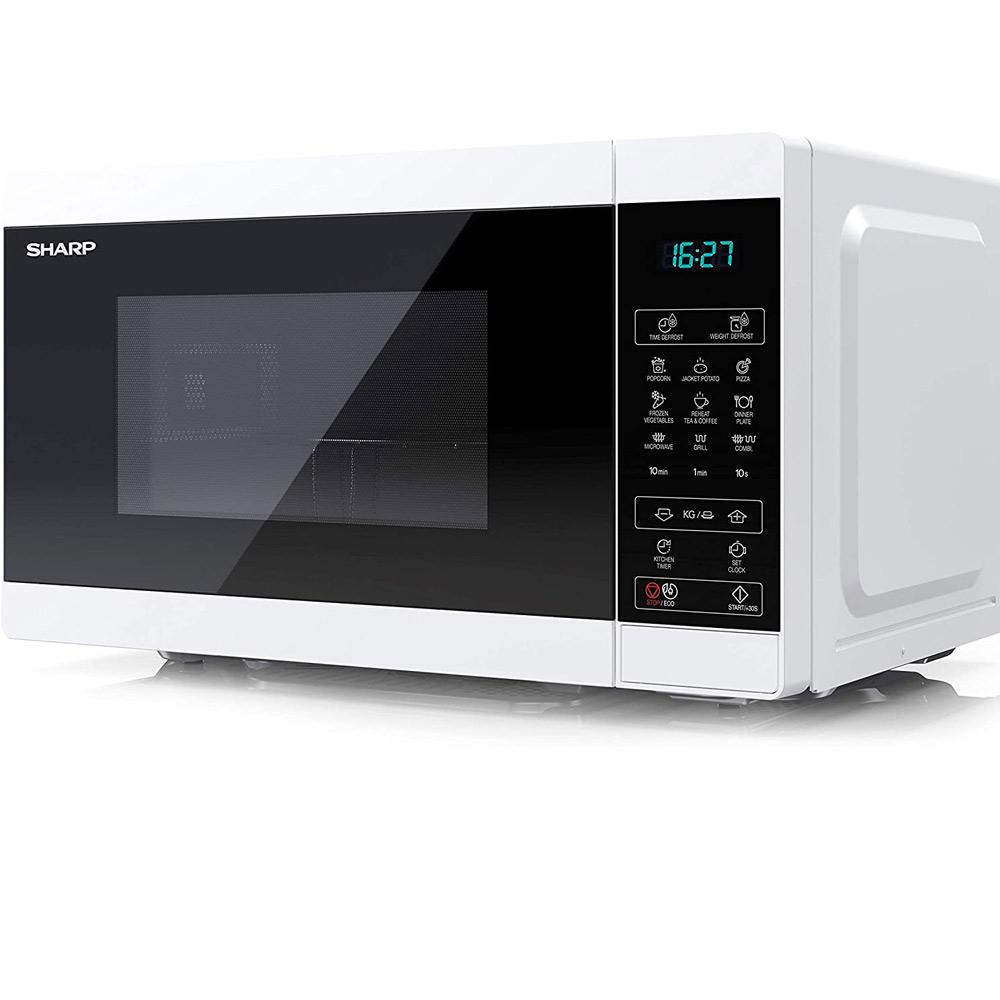 Forno a microonde digitale da 1000W con grill e defrost 11 livelli di cottura foto 3