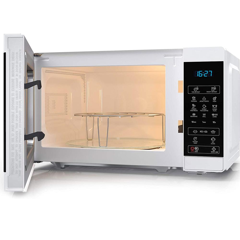 Forno a microonde digitale da 1000W con grill e defrost 11 livelli di cottura foto 4