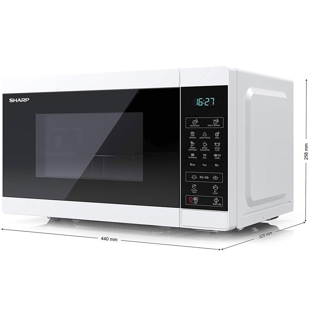Forno a microonde digitale da 1000W con grill e defrost 11 livelli di cottura foto 5