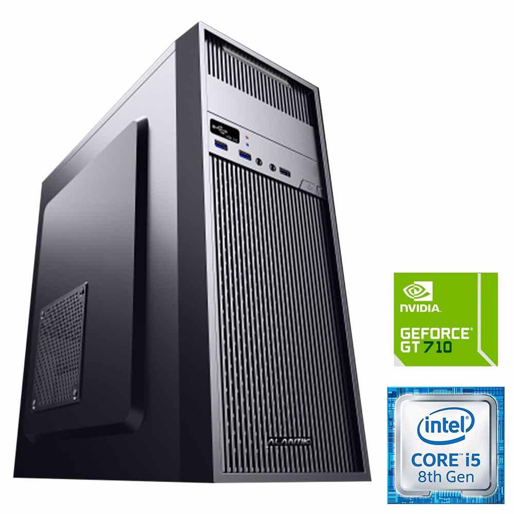 Pc pulsar windows 10 intel i5-8400 8gb ram hdd 1tb ssd 240gb nvidia gt 710 wifi.