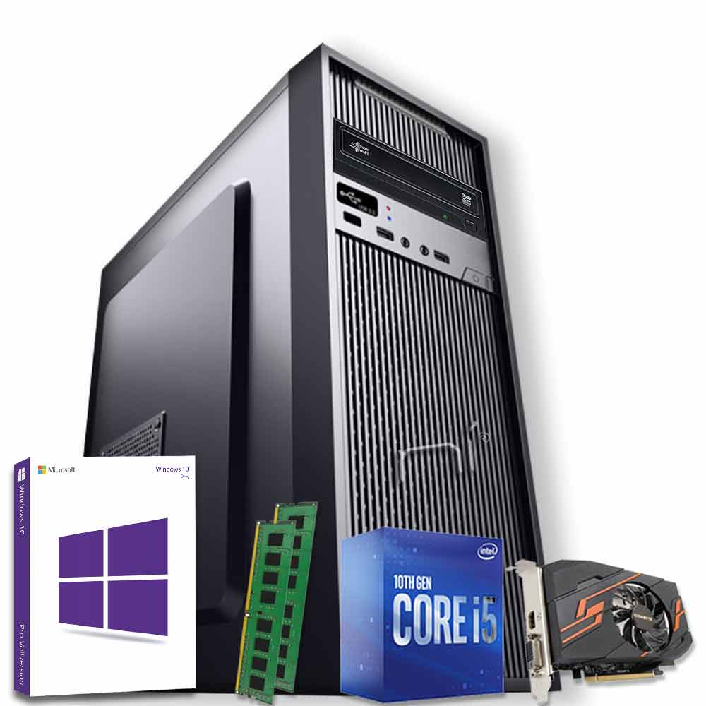 Computer fisso windows 10 intel i5-10400 16gb ram ssd 1tb nvidia gt-1030 2gb