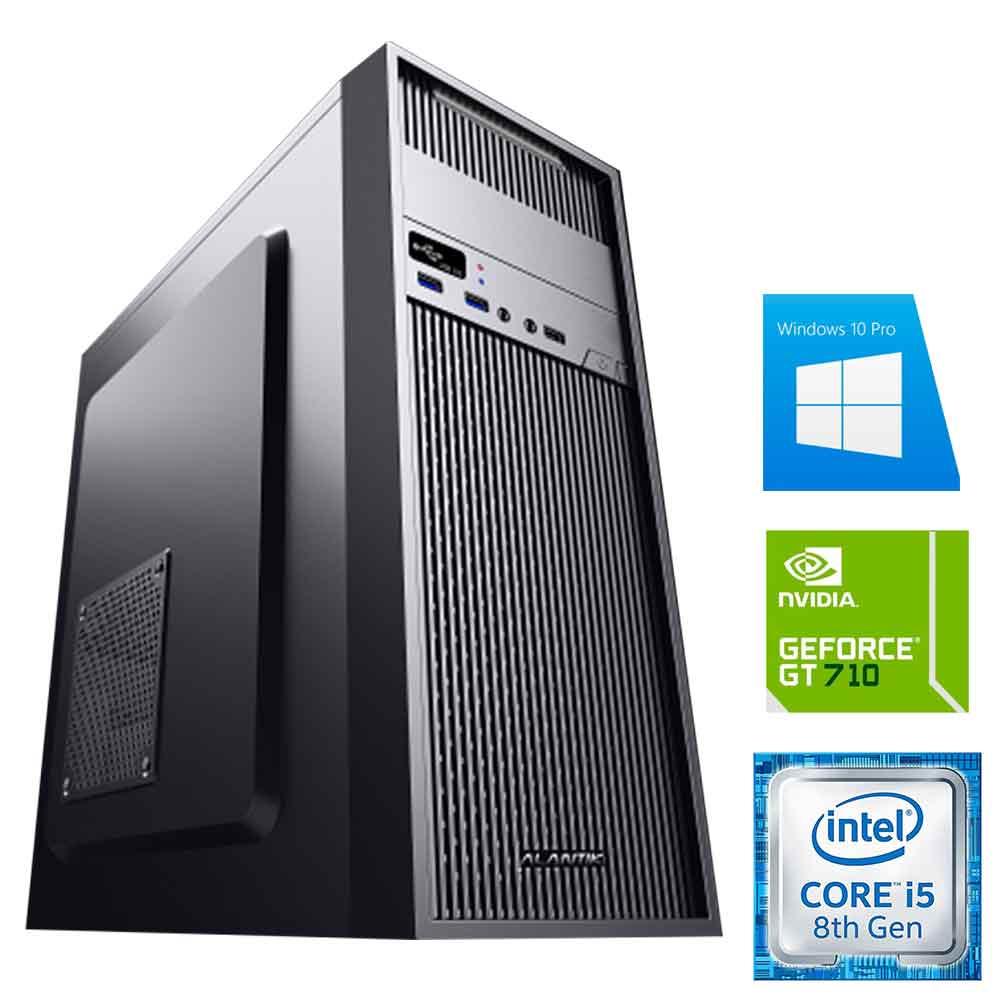Pc gaming Windows 10 con licenza Intel i5-8400 8gb ram hdd 1tb nvidia gt710 WiFi foto 2