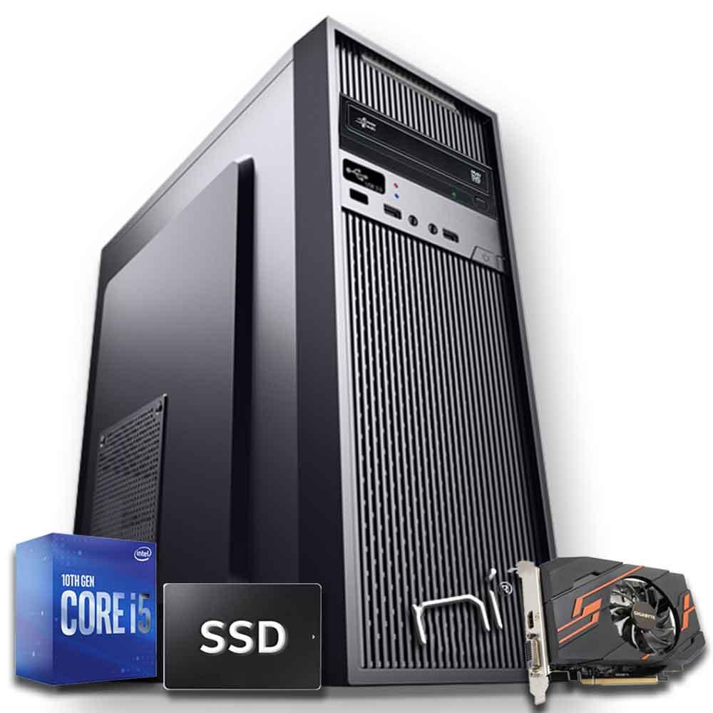 Pc gaming Intel i5 10400 nvidia gt-1030 8gb ram ssd 240 gb hdd 1tb assemblato foto 2