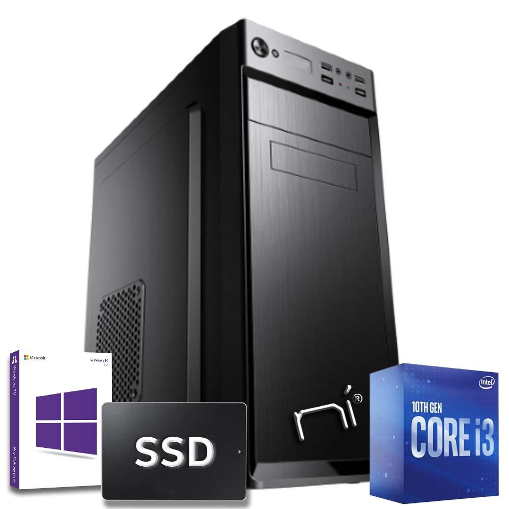 Pc Desktop Intel i3-10100 quad core Windows 10 8gb ram 240 gb ssd WiFi HDMI foto 2