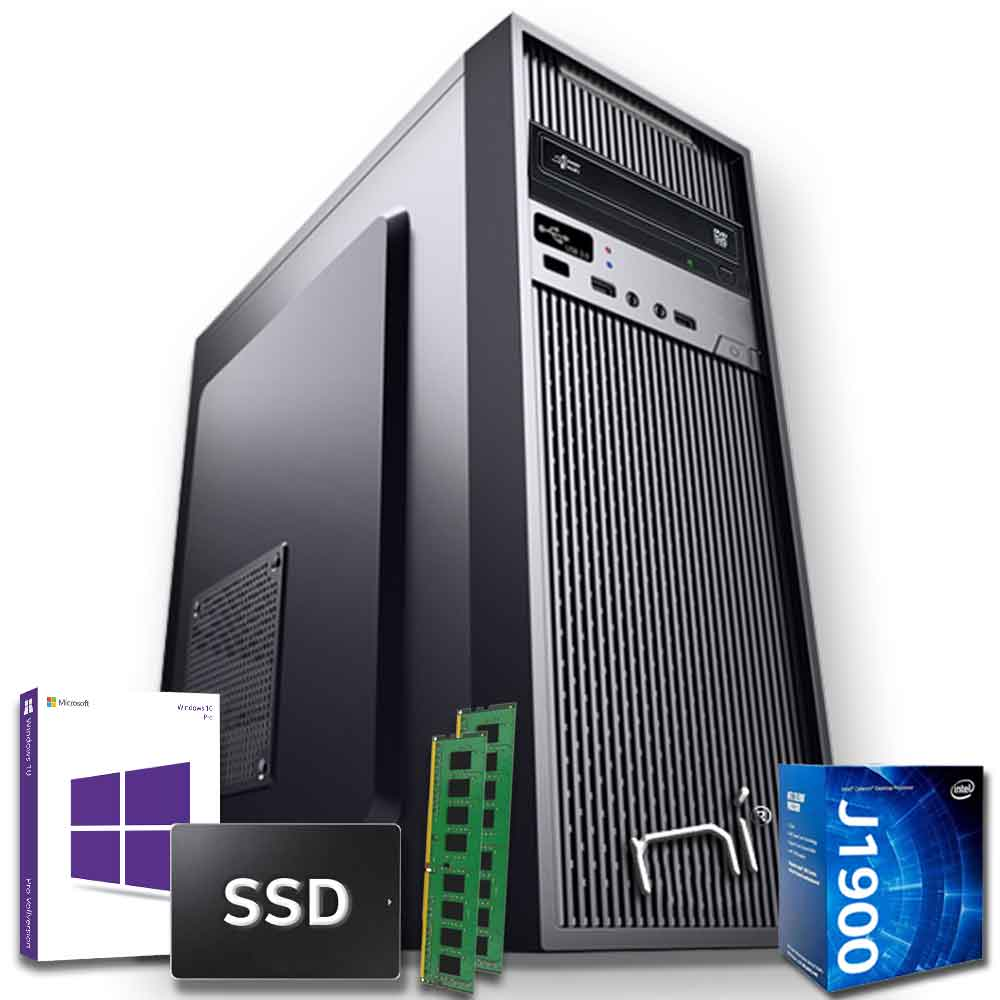 Pc desktop intel quad core 16gb ram ssd 1tb windows 10 con licenza wifi hdmi