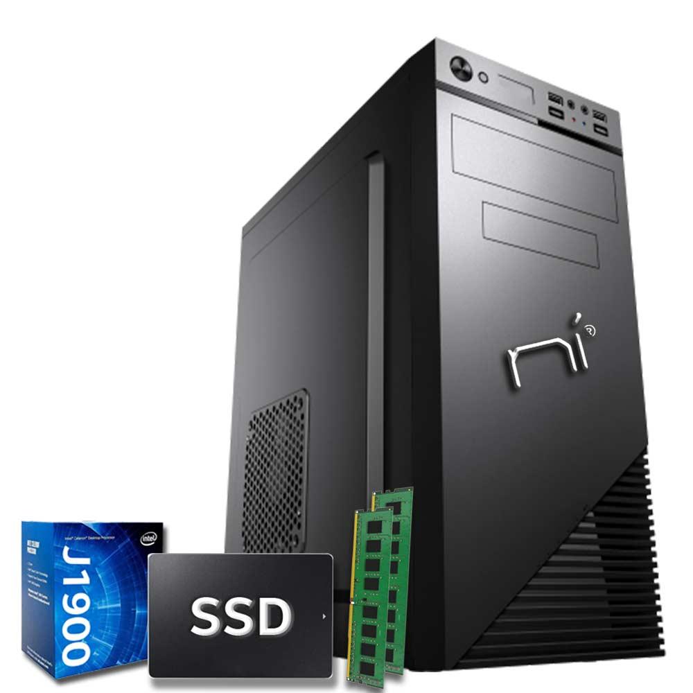 Pc fisso pulsar intel quad core 16gb ram ssd 120gb wifi hdmi assemblato