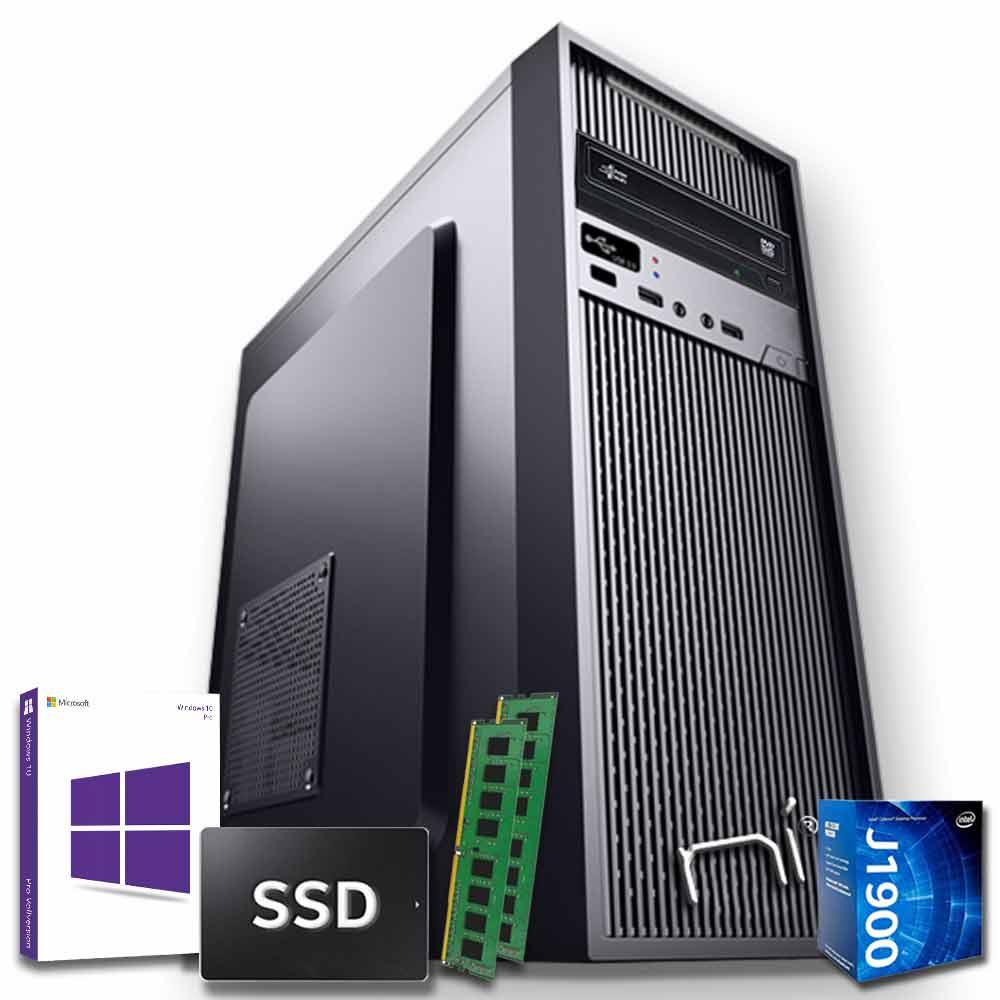 Pc fisso windows 10 con licenza intel quad core 16gb ram ssd 480 gb wifi hdmi
