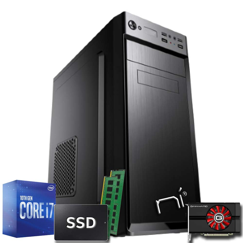 Pc gaming desktop intel i7 10700 ram 16gb hdd 1tb ssd 240gb nvidia gtx 1050 2gb