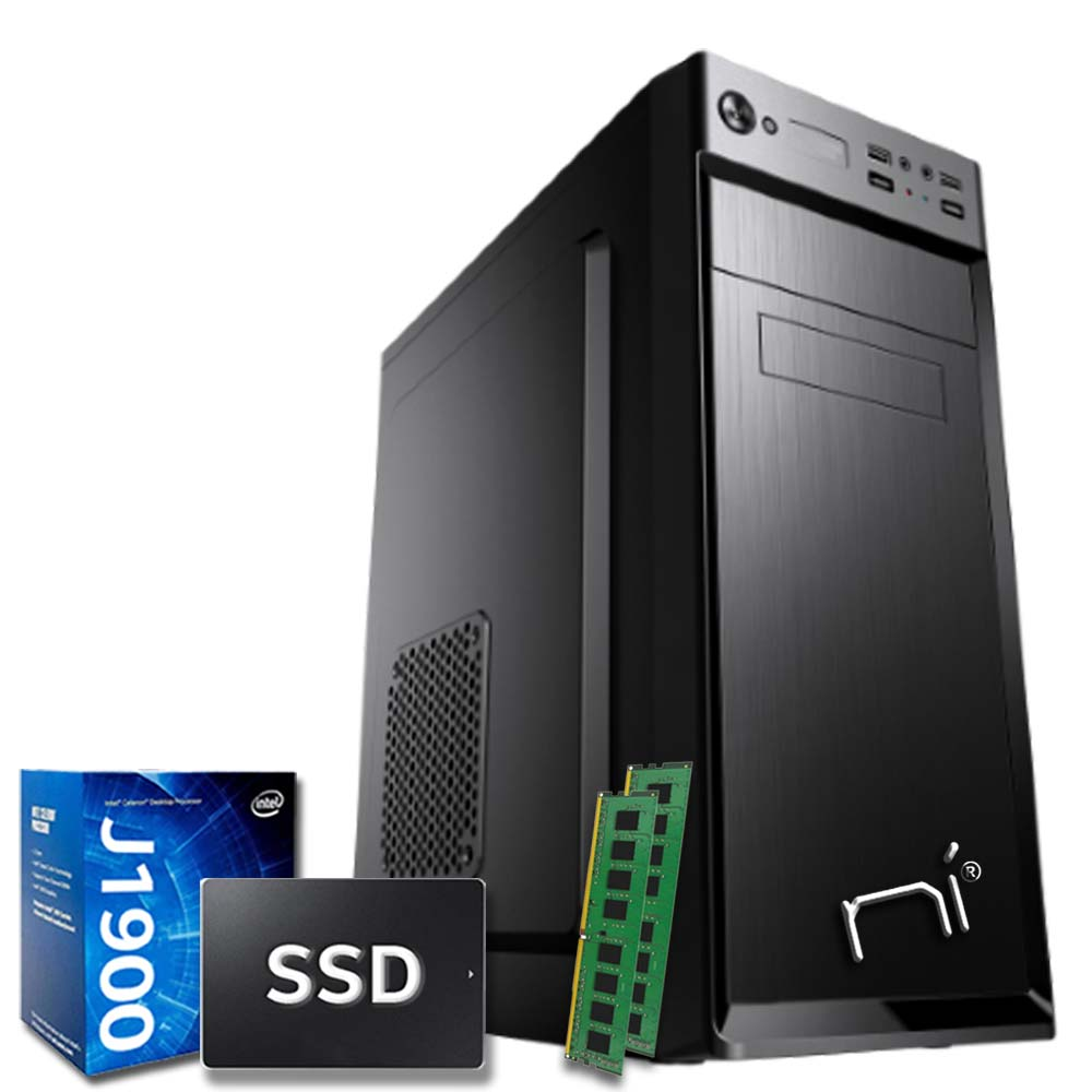 Pulsar Pc fisso Veloce Intel quad core 16gb ram ssd 480gb WiFi HDMI Windows 10