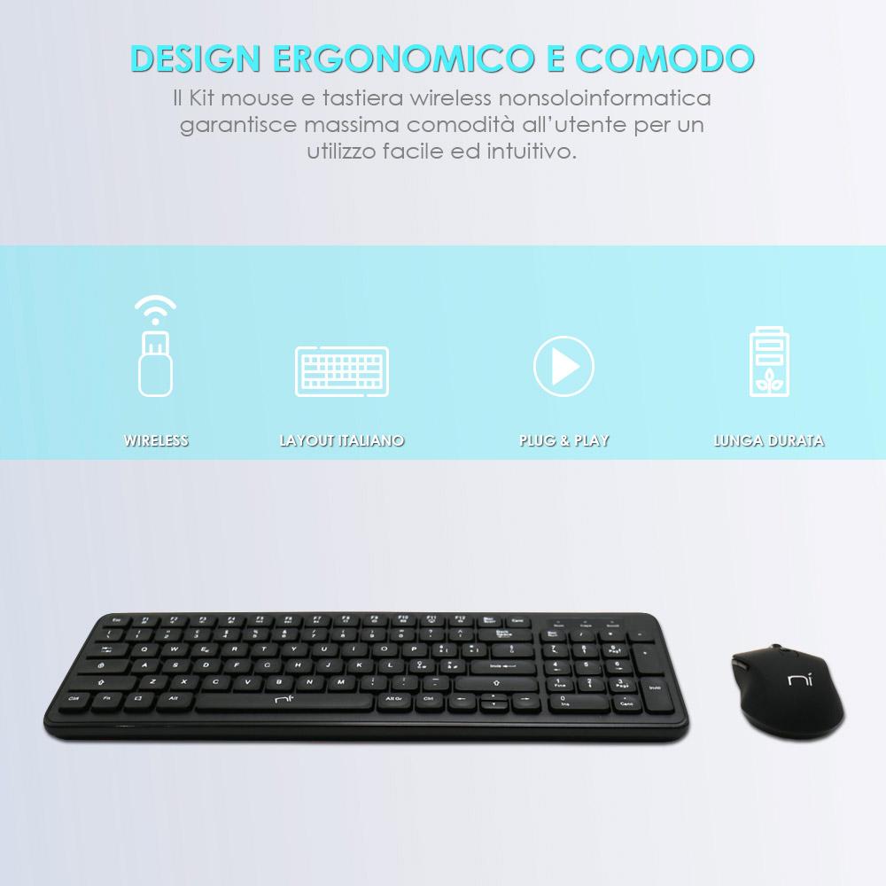 Accessori smart working e didattica a distanza 4in1 mouse tastiera webcam cuffie foto 3