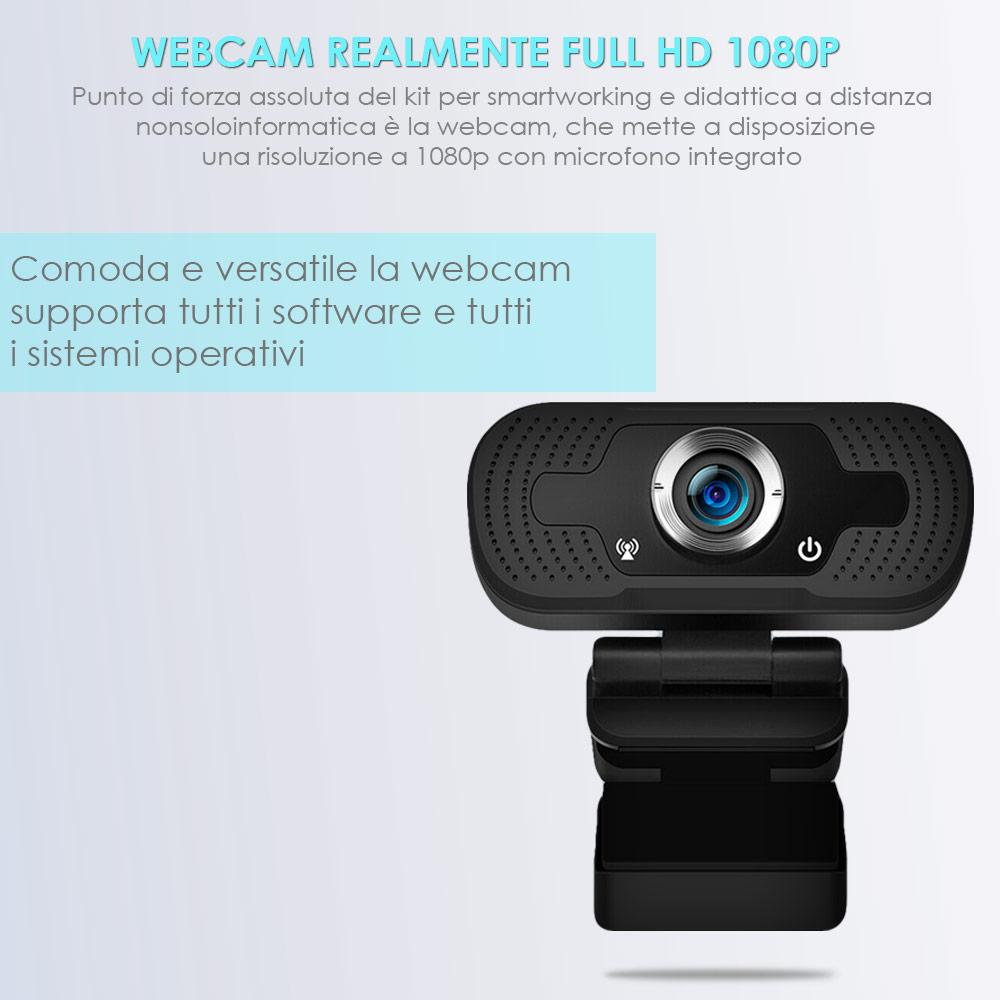 Accessori smart working e didattica a distanza 4in1 mouse tastiera webcam cuffie foto 4