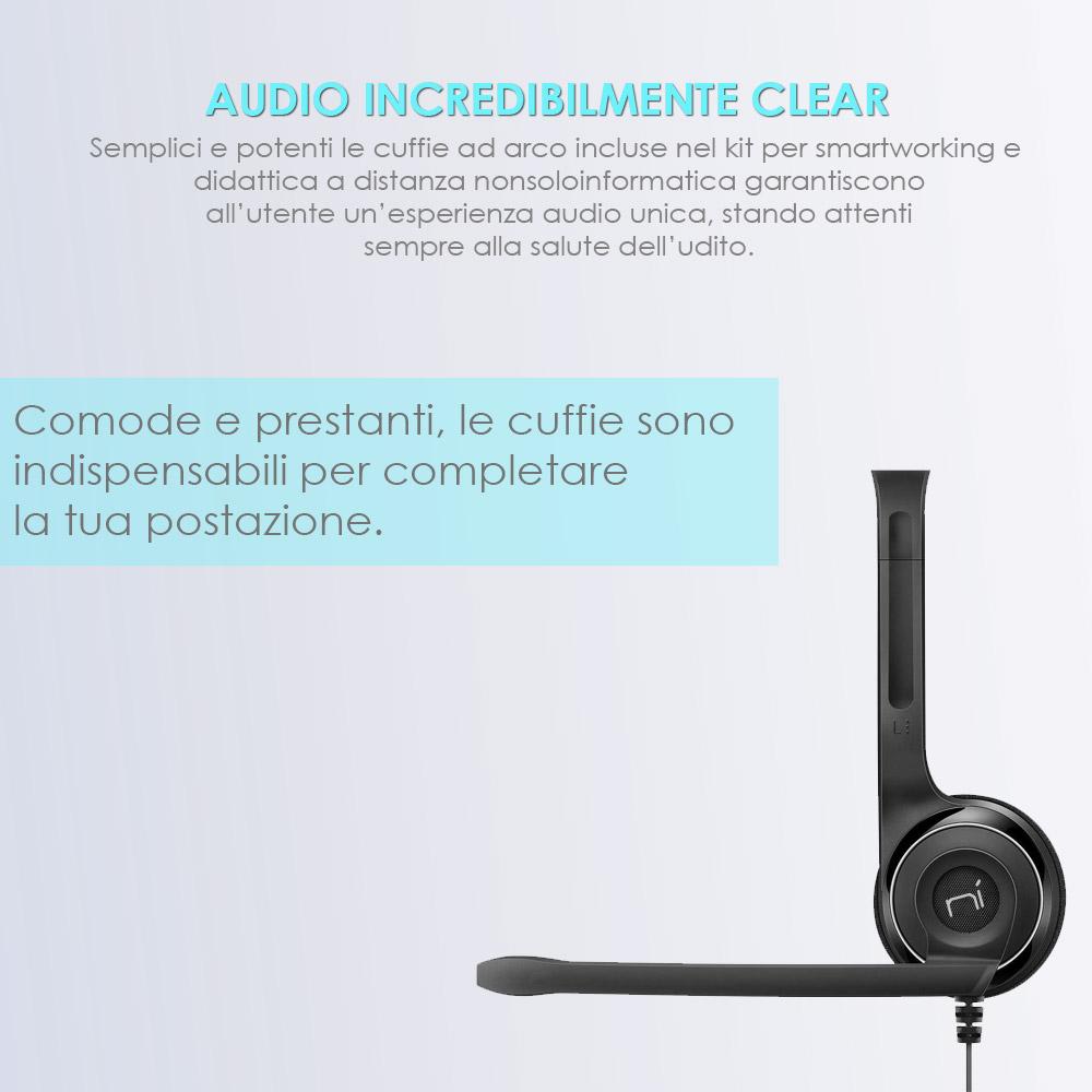 Accessori smart working e didattica a distanza 4in1 mouse tastiera webcam cuffie foto 5