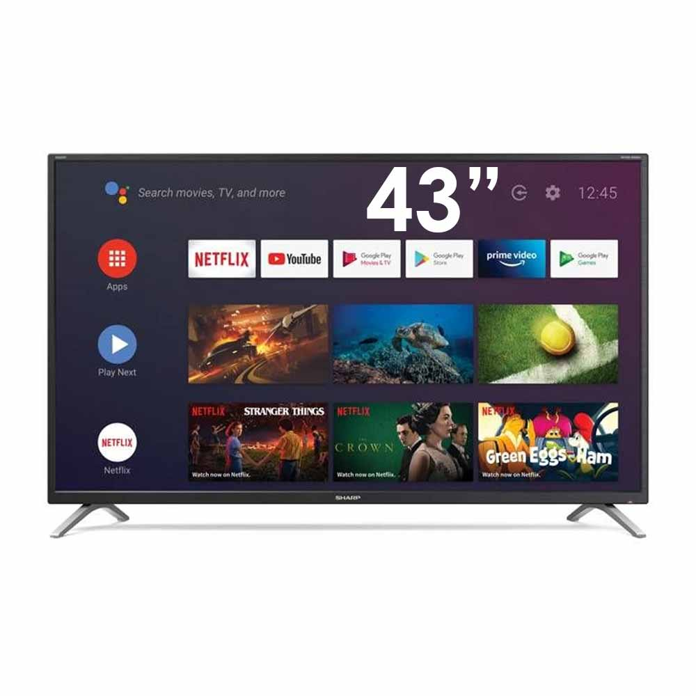 Smart tv sharp aquos 4k 43pollici androidtv 9 google assistant 43bl2e