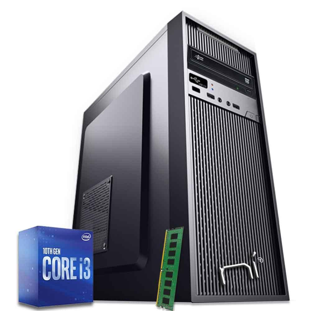 Pc Desktop Intel i3-10100 quad core 8gb ram hard disk 1tb WiFi HDMI foto 2
