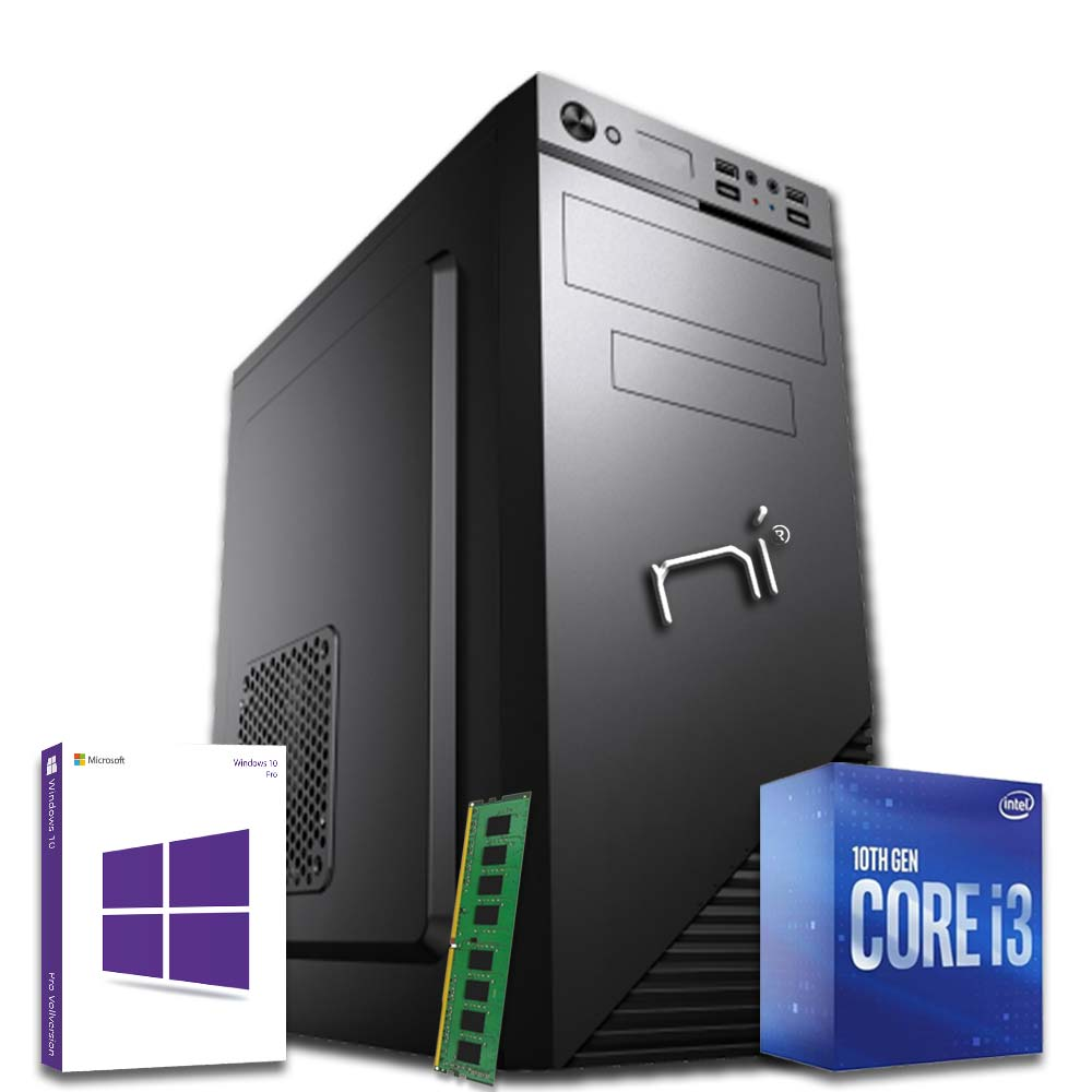 Pc desktop intel i3-10100 quad core windows 10 8gb ram hard disk 1tb wifi hdmi