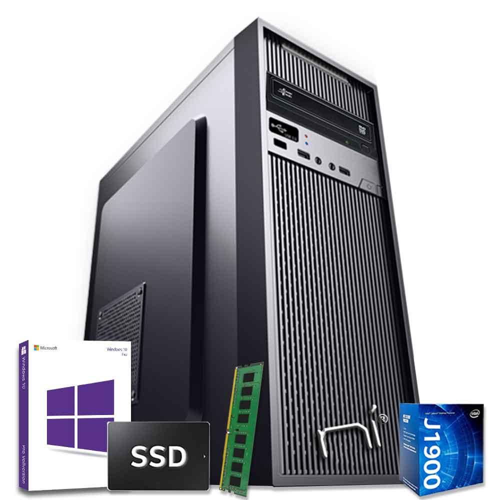 Pc desktop windows 10 con licenza intel quad core 8gb ram ssd 1 tb wifi hdmi