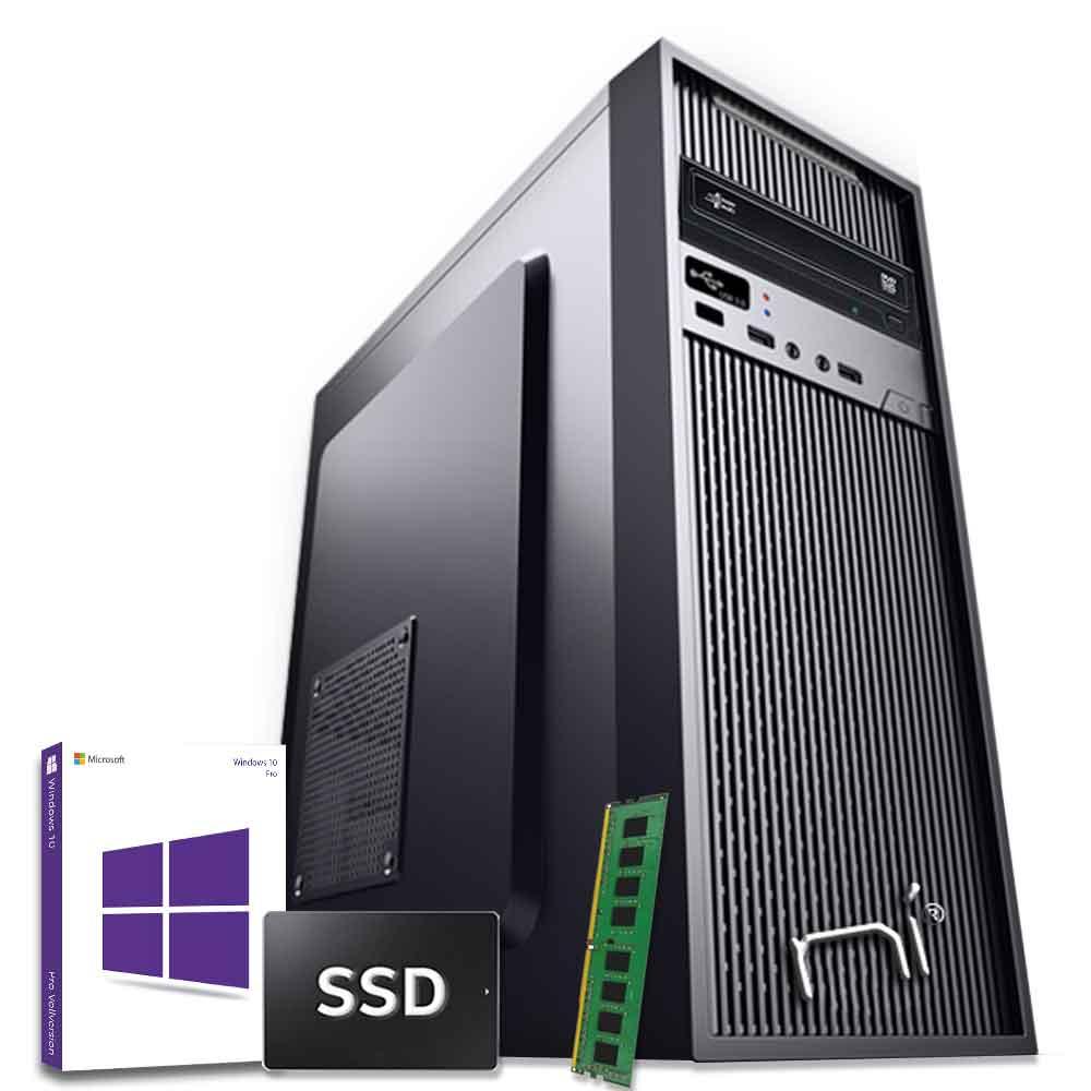 Pc Desktop Windows 10 con licenza Intel quad core 8gb ram DDR4 ssd 480 gb WiFi foto 2