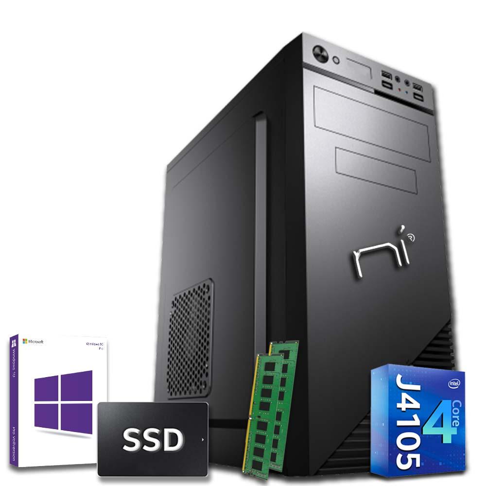 Pc fisso 3 monitor intel quad-core 16gb ram 240 gb ssd windows 10 licenziato foto 2