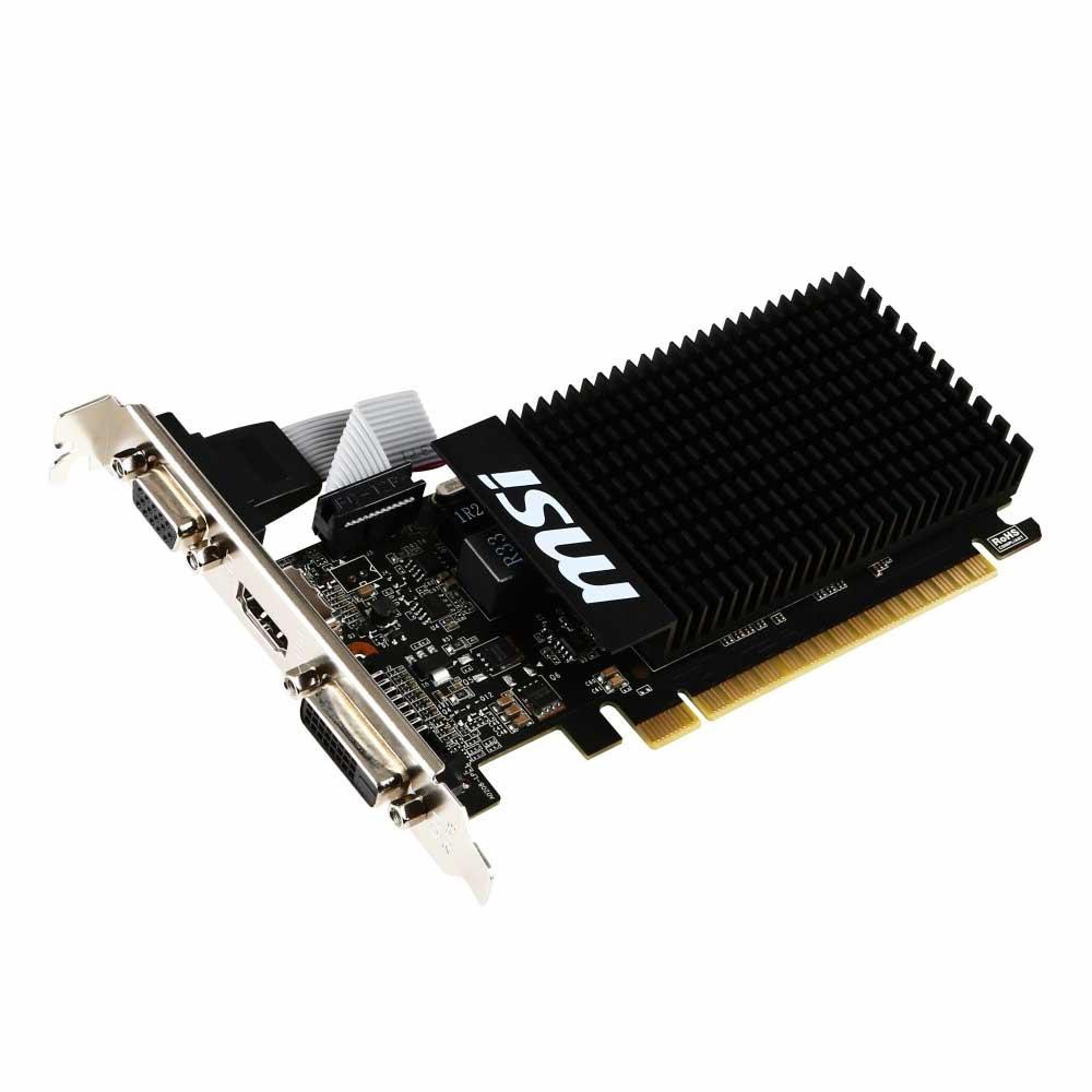 MSI Nvidia GeForce GT-710 da 2GB, VGA, HDMI, DVI, dual screen foto 2