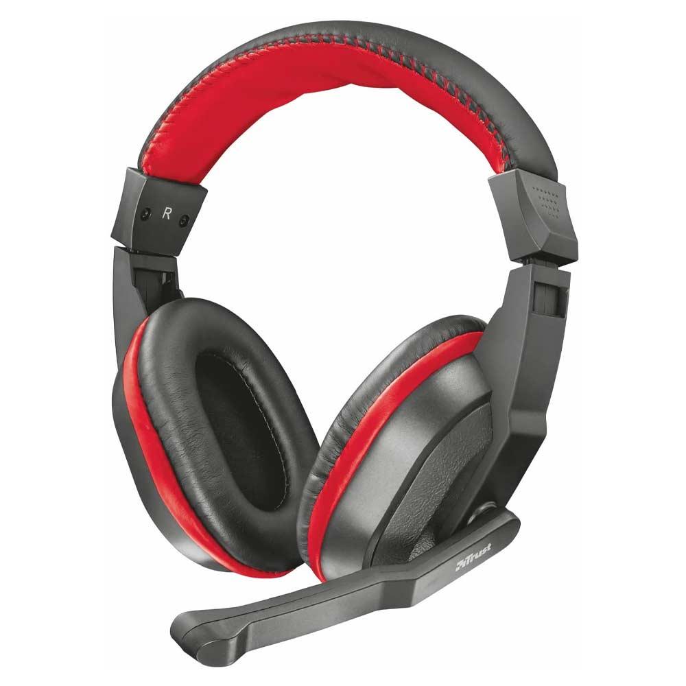Cuffie gaming trust ziva over-ear con microfono ad archetto cavo 1 metro