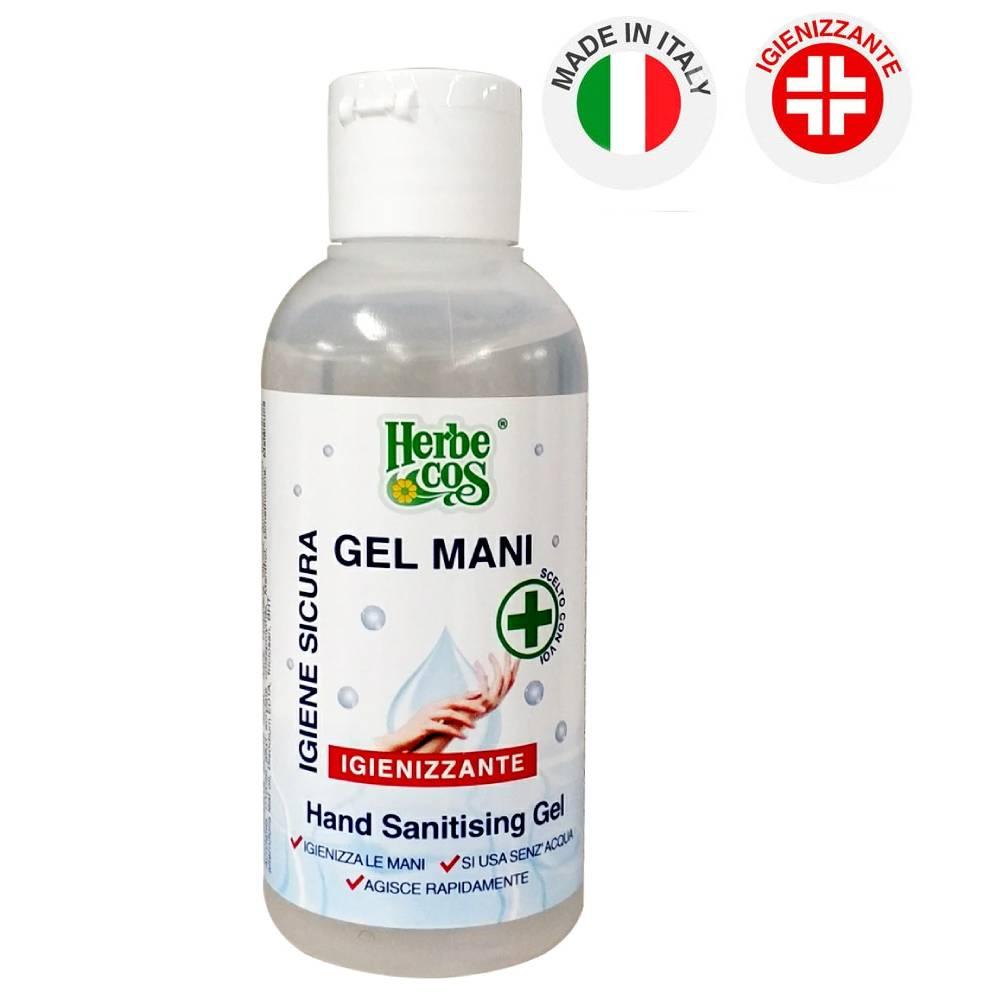 Gel igienizzante mani 120ml antibatterico herbecos igiene mani senza acqua
