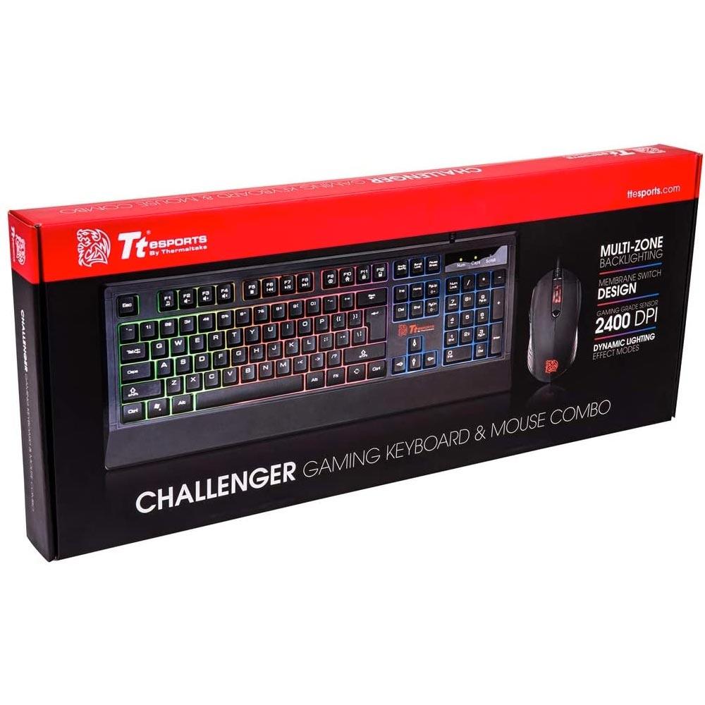 Set tastiera e mouse da gaming challenger rgb combo foto 6