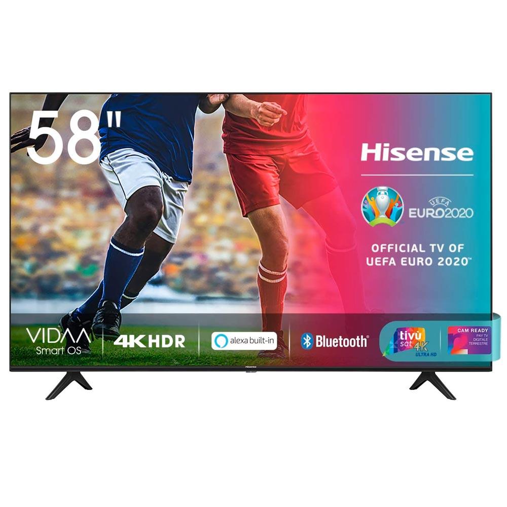 Smart tv hisense ultra hd 4k 58 hdr 10+ dolby dts con alexa integrata tuner dvb