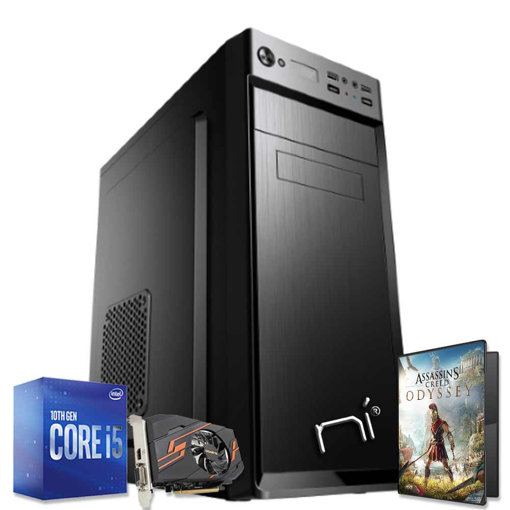 Pc gaming scheda video nvidia gt-1030 2 gb Intel i5-10400 8gb ram hdd 1tb Win 10