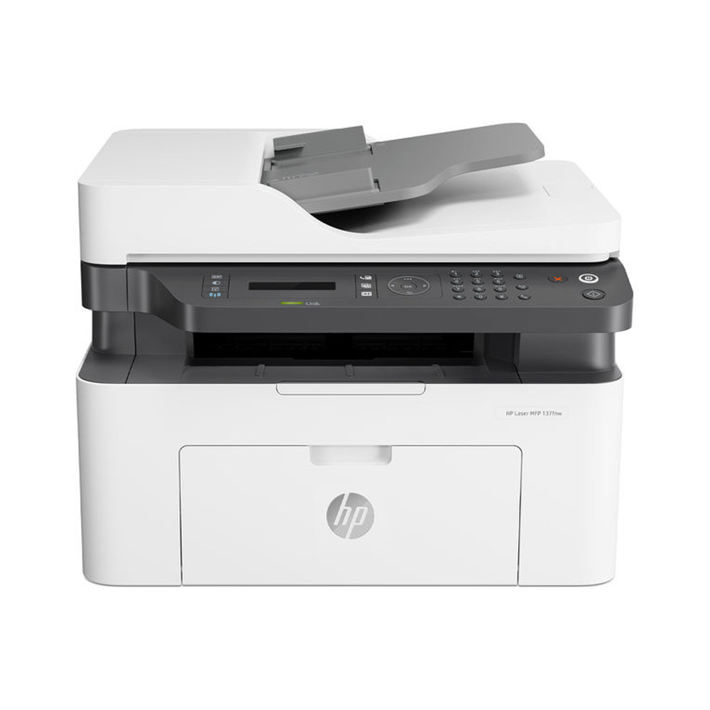 Stampante HP Laser MFP 137FNW fronte-retro Fax Scanner Fotocopiatrice WiFi LAN foto 2