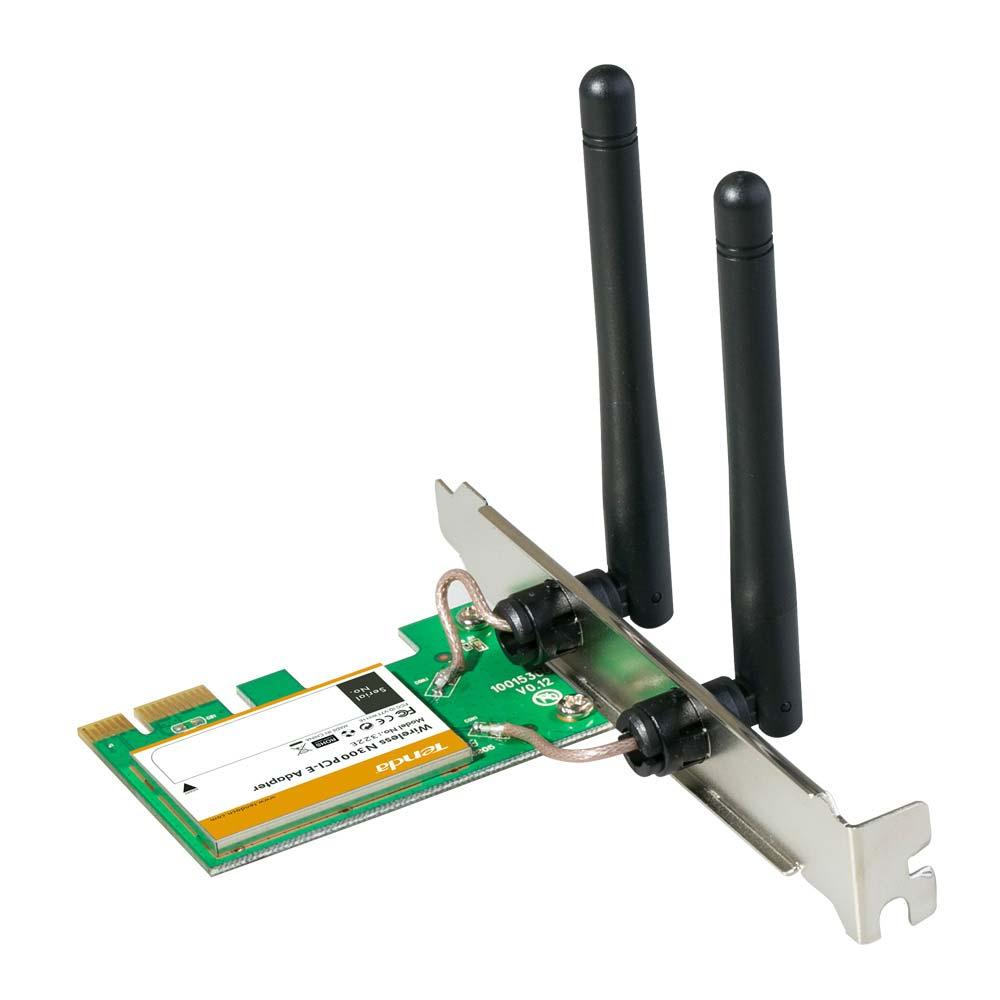 Scheda di rete wireless tenda w322e fino a 300 mbps attacco pci-express x1