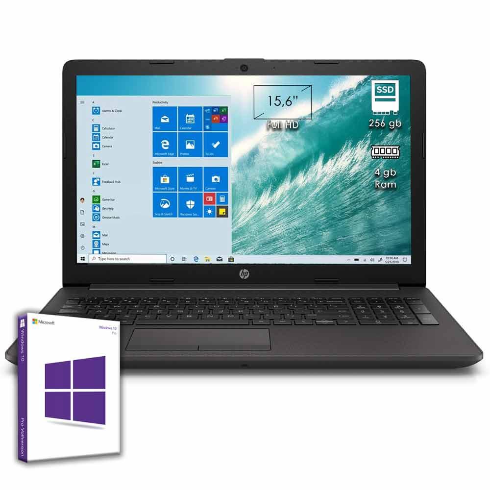 Notebook portatile hp 255 g7 15.6 cpu amd a4 windows 10 licenziato 4gb ddr4.