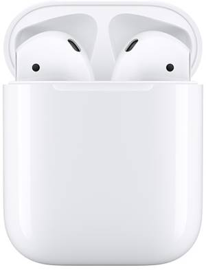 Apple auricolari airpods 2 + custodia di ricarica mv7n2zm/a.