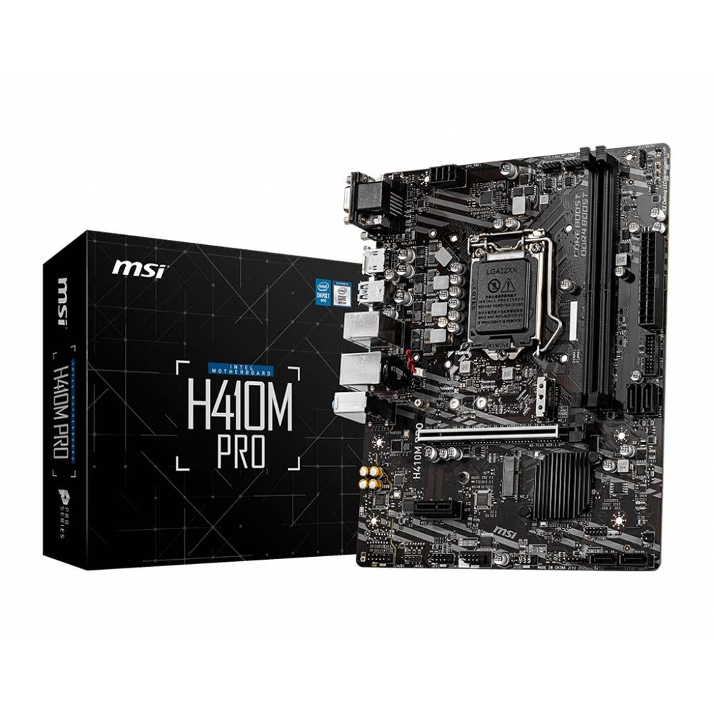 Scheda madre socket intel lga 1200 msi pro series h410m-pro