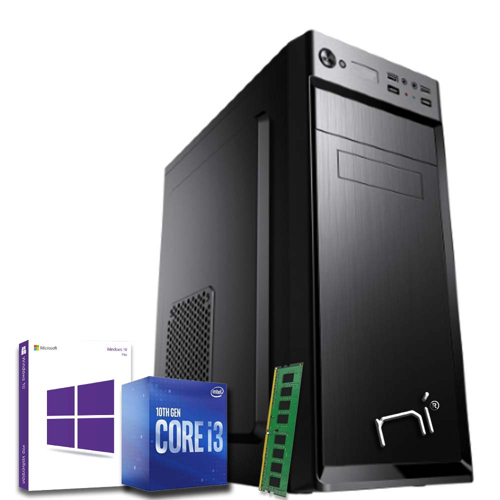 Pc desktop windows 10 con licenza intel i3 10100 8gb ram hard disk 1tb wifi hdmi