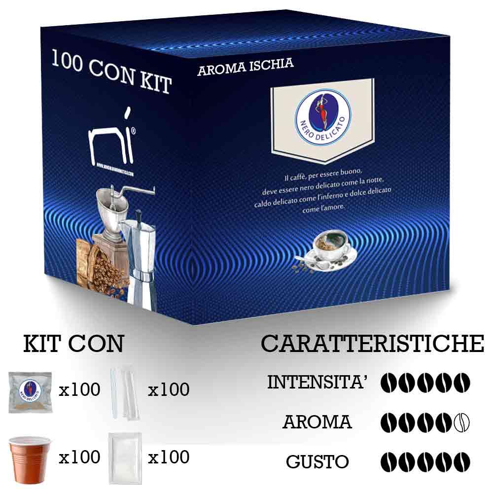Kit caffè cialde aroma ischia con kit 100 pz foto 3