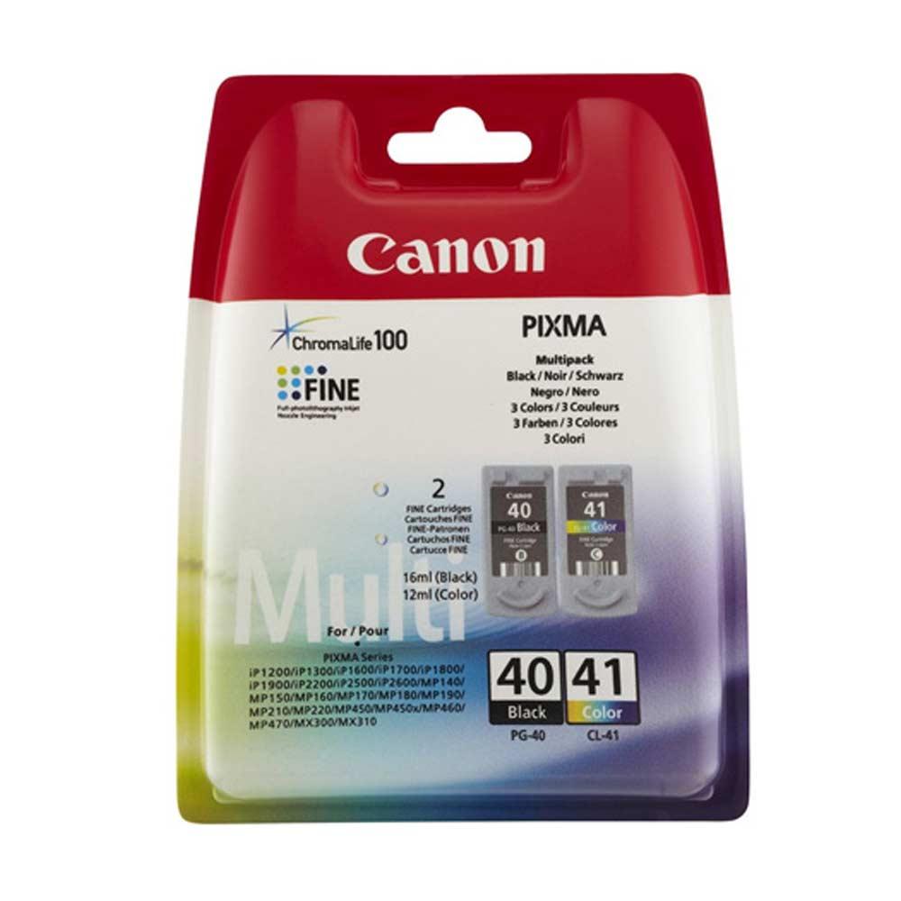 Cartuccia originale canon pg40 e cl41 con inchiostro tricomia e nero 0615b043