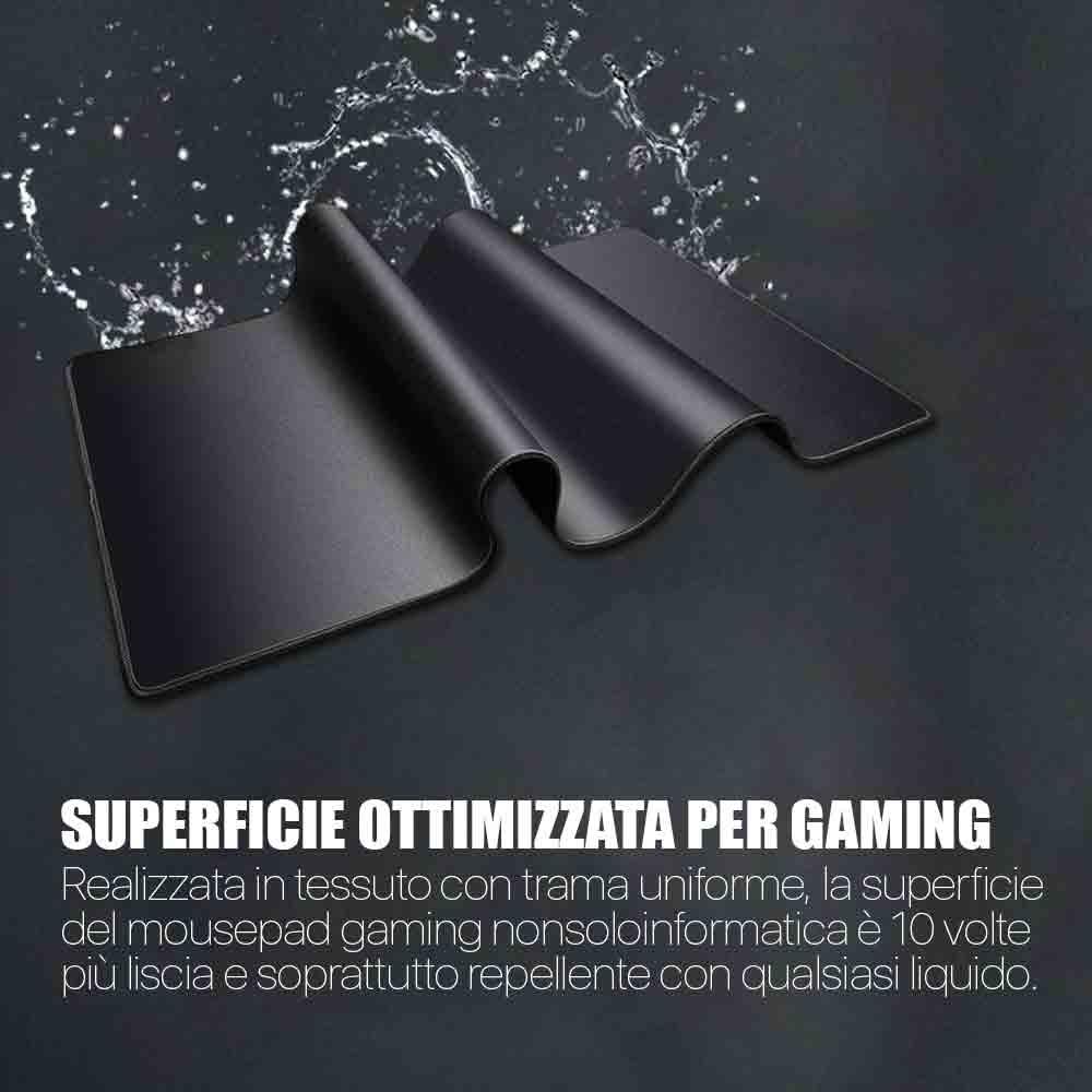 Mouse pad gaming XXL 900x400 4mm XL bordi in gomma cuciti antiscivolo  foto 4