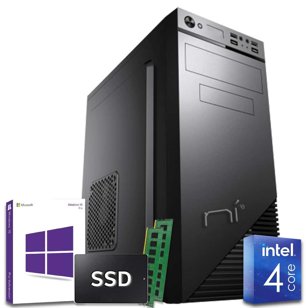 Pc desktop windows 10 con licenza intel quad core 16gb ram ddr4 ssd 1 tb wifi