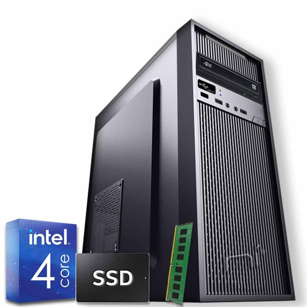 Pc Desktop Windows 10 Intel quad core 8gb ram DDR4 ssd 480 gb WiFi HDMI foto 2